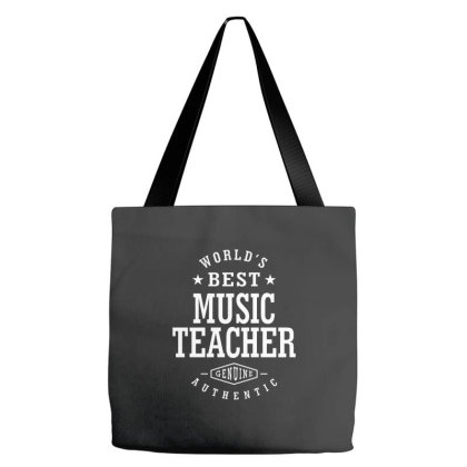 Music Teacher Job Title Gift Tote Bags Designed By Cidolopez