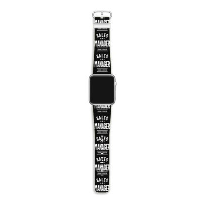 Sales Manager Job Title Gift Apple Watch Band Designed By Cidolopez
