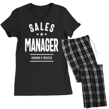 Sales Manager Job Title Gift Women's Pajamas Set Designed By Cidolopez