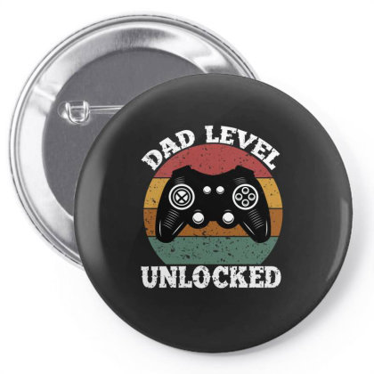 Dad Level Unlocked Pin-back Button Designed By Ashlıcar