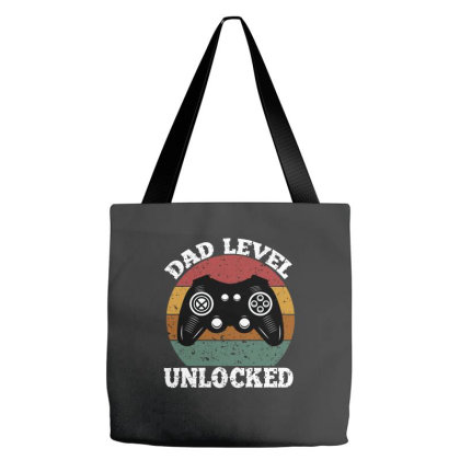 Dad Level Unlocked Tote Bags Designed By Ashlıcar