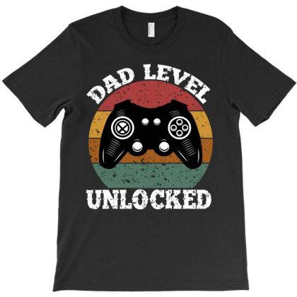 Dad Level Unlocked T-shirt Designed By Ashlıcar
