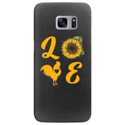 Love Chicken Sunflower Samsung Galaxy S7 Edge Case Designed By Ashlıcar