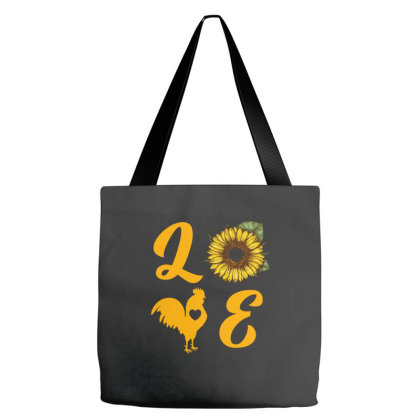Love Chicken Sunflower Tote Bags Designed By Ashlıcar