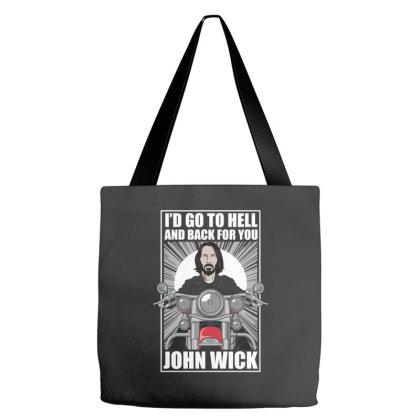 John Wick Biker Tote Bags Designed By Samkal