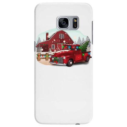 Farm Truck Christmas Samsung Galaxy S7 Edge Case Designed By Alparslan Acar