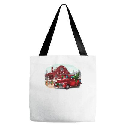 Farm Truck Christmas Tote Bags Designed By Alparslan Acar