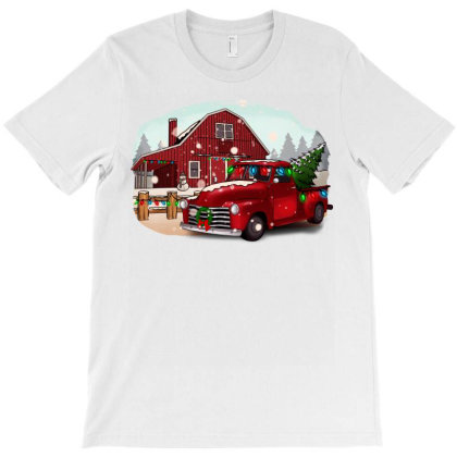 Farm Truck Christmas T-shirt Designed By Alparslan Acar