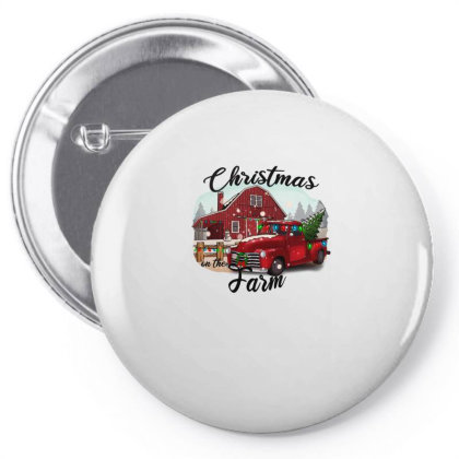 Farm On The Truck Christmas Pin-back Button Designed By Alparslan Acar