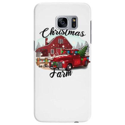 Farm On The Truck Christmas Samsung Galaxy S7 Edge Case Designed By Alparslan Acar