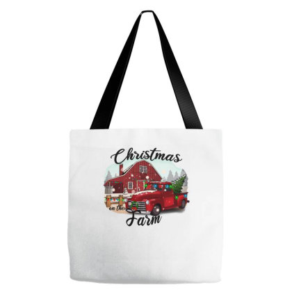 Farm On The Truck Christmas Tote Bags Designed By Alparslan Acar