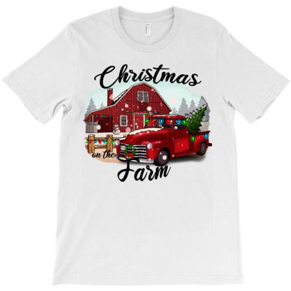 Farm On The Truck Christmas T-shirt Designed By Alparslan Acar