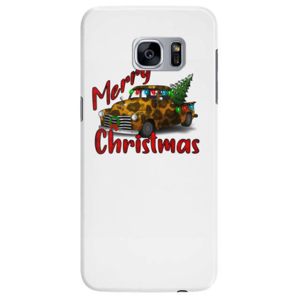 Farm Truck Christmas Leopard Samsung Galaxy S7 Edge Case Designed By Alparslan Acar