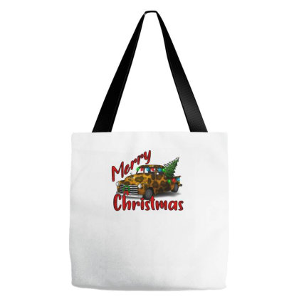 Farm Truck Christmas Leopard Tote Bags Designed By Alparslan Acar