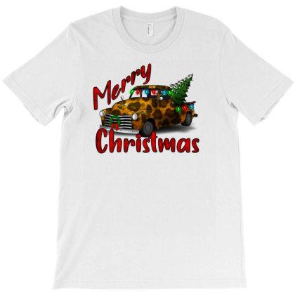 Farm Truck Christmas Leopard T-shirt Designed By Alparslan Acar