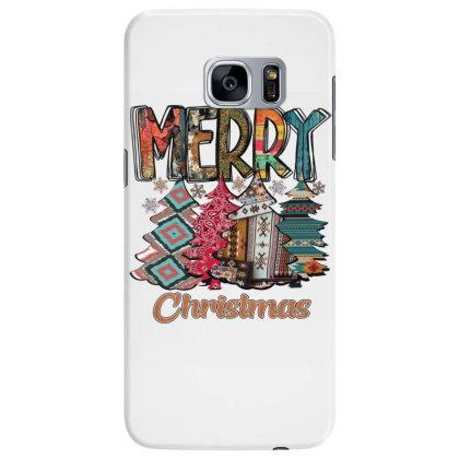 Merry Christmas Trees Samsung Galaxy S7 Edge Case Designed By Alparslan Acar
