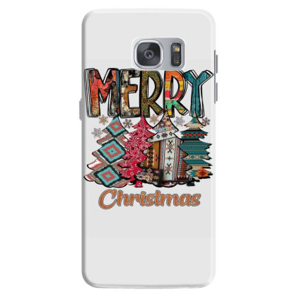 Merry Christmas Trees Samsung Galaxy S7 Case Designed By Alparslan Acar