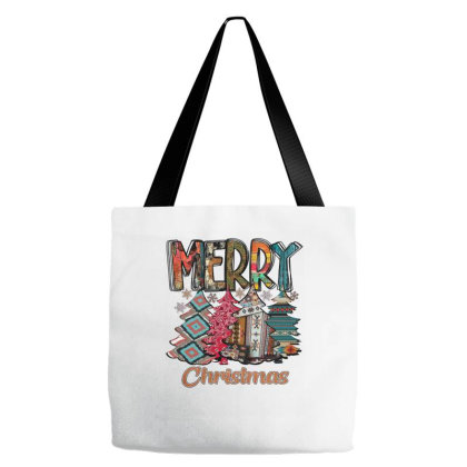 Merry Christmas Trees Tote Bags Designed By Alparslan Acar