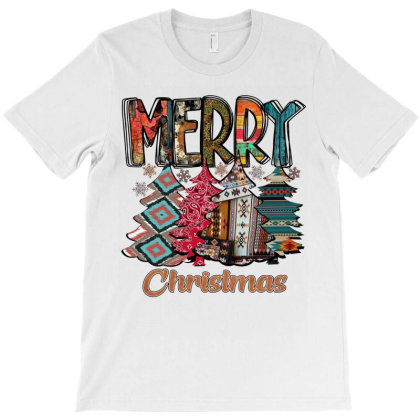 Merry Christmas Trees T-shirt Designed By Alparslan Acar