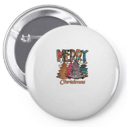 Merry Christmas Trees Pin-back Button Designed By Alparslan Acar