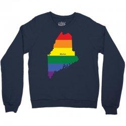maine rainbow flag Crewneck Sweatshirt | Artistshot