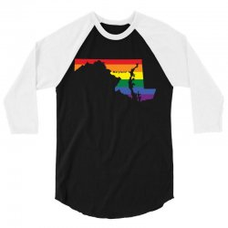maryland rainbow flag 3/4 Sleeve Shirt | Artistshot