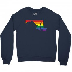 maryland rainbow flag Crewneck Sweatshirt | Artistshot