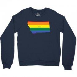 montana rainbow flag Crewneck Sweatshirt | Artistshot