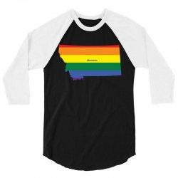 montana rainbow flag 3/4 Sleeve Shirt | Artistshot