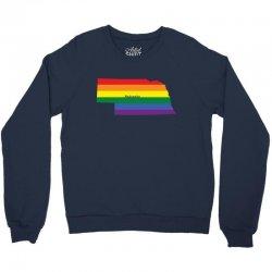 nebraska rainbow flag Crewneck Sweatshirt | Artistshot