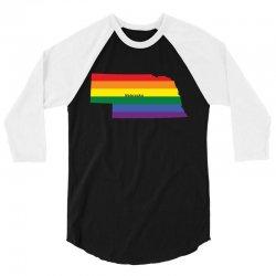 nebraska rainbow flag 3/4 Sleeve Shirt | Artistshot