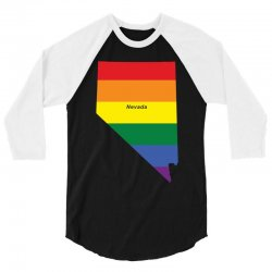 nevada rainbow flag 3/4 Sleeve Shirt | Artistshot