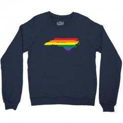 north carolina rainbow flag Crewneck Sweatshirt | Artistshot