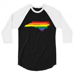 north carolina rainbow flag 3/4 Sleeve Shirt | Artistshot