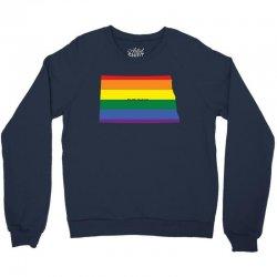 north dakota rainbow flag Crewneck Sweatshirt | Artistshot