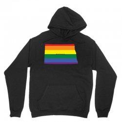 north dakota rainbow flag Unisex Hoodie | Artistshot