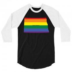 north dakota rainbow flag 3/4 Sleeve Shirt | Artistshot