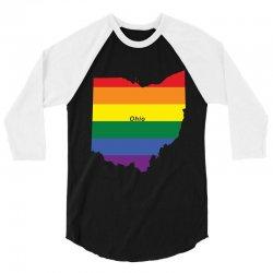 ohio rainbow flag 3/4 Sleeve Shirt | Artistshot