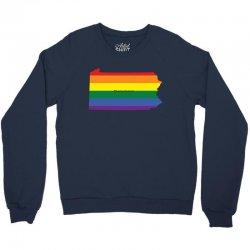 pennsylvania rainbow flag Crewneck Sweatshirt | Artistshot