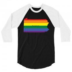 pennsylvania rainbow flag 3/4 Sleeve Shirt | Artistshot