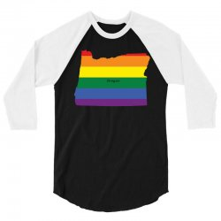 oregen rainbow flag 3/4 Sleeve Shirt | Artistshot