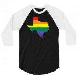 texas rainbow flag 3/4 Sleeve Shirt | Artistshot