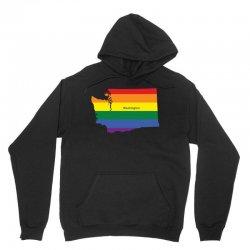 washington rainbow flag Unisex Hoodie   Artistshot