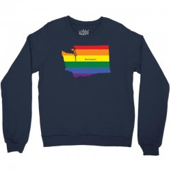 washington rainbow flag Crewneck Sweatshirt   Artistshot