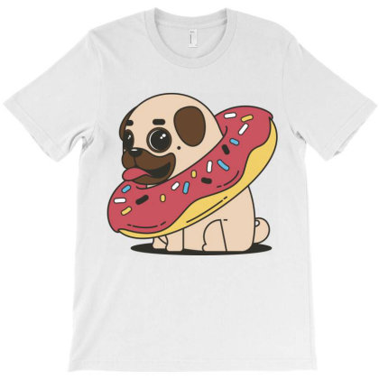 Pug & Donut T-shirt Designed By Chiks