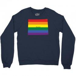 wyoming rainbow flag Crewneck Sweatshirt | Artistshot