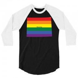 wyoming rainbow flag 3/4 Sleeve Shirt | Artistshot