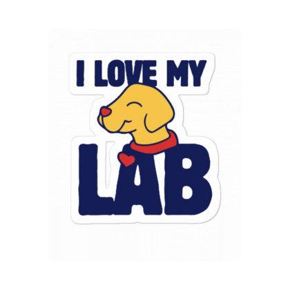 I Love My Lab Sticker Designed By Blackstone