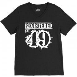 registered no 49 V-Neck Tee   Artistshot
