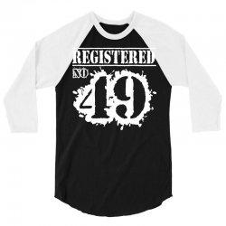 registered no 49 3/4 Sleeve Shirt   Artistshot